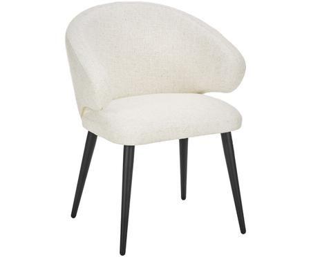 Chaise à accoudoirs en tissu bouclé Celia