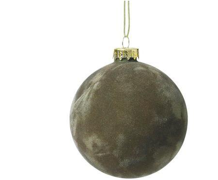 Sametová vánoční koule Alcan, 3 ks