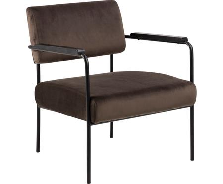 Chaise longue en veloursCloe