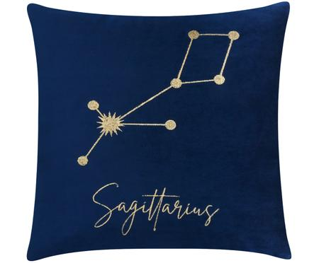 Fluwelen kussenhoes Zodiac met geborduurd sterrenbeeld (varianten)