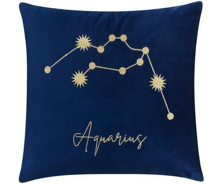 Fodera arredo in velluto Zodiac con segno zodiacale ricamato (Varianti)