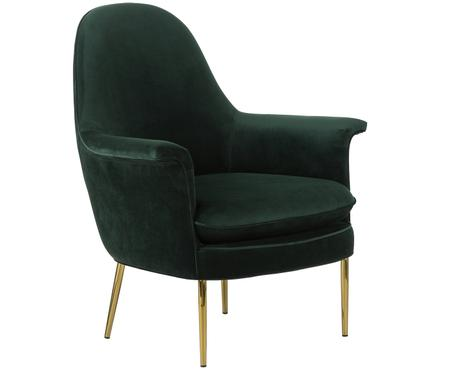 Fauteuil en velours Everly