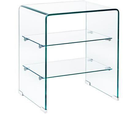 Skleněný noční stolek Glasse