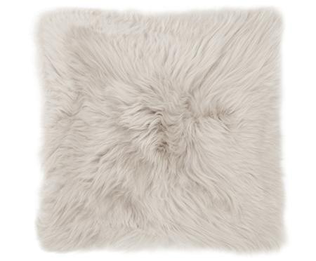 Funda de cojín de piel de oveja Oslo, lisa