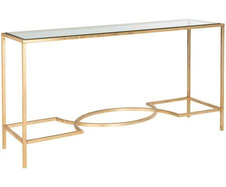 Konzolový stolek se skleněnou deskou Sia