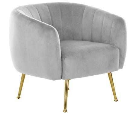 Fotel z aksamitu Coco