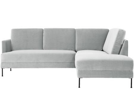 Divano con chaise-longue in velluto Fluente