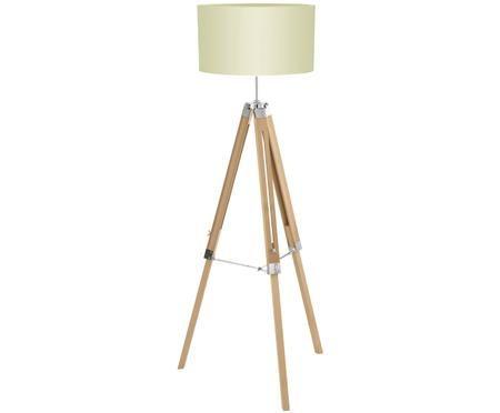 Vloerlamp Lantada uit hout, in hoogte verstelbaar