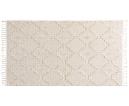 Teppich Oyo in Creme mit Reliefoptik
