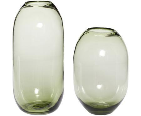 Vasen-Set Setsuna aus Glas, 2-tlg.