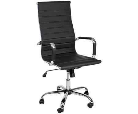 Chaise de bureau en cuir synthétique Praga, ajustable