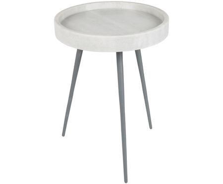 Tavolino in marmo rotondo Karrara