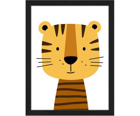 Gerahmter Digitaldruck Hello Tiger