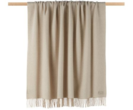 Kaschmir-Plaid Liliana in Creme/Beige