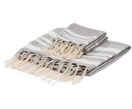 Set asciugamani Hamptons, 3 pz.