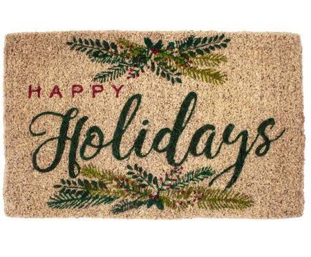 Ręcznie tkana wycieraczka Happy Holidays
