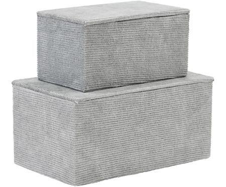 Lot de boîtes en velours côtelé Nico, 2élém.