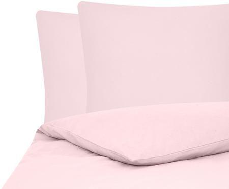 Einfarbige Flanell-Bettwäsche Biba in Rosa