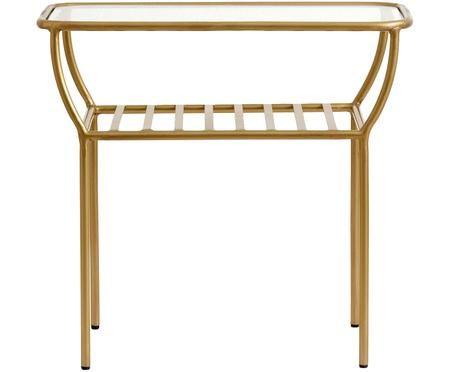 Odkládací stolek se skleněnou deskou Maeve
