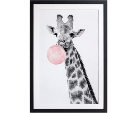 Zarámovaný digitální tisk Giraffe