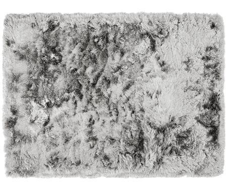 Flauschiger Hochflor-Teppich Jimmy in Hellgrau, handgetuftet