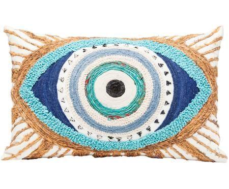 Ručně vyrobený polštář Ethno Eye, s výplní