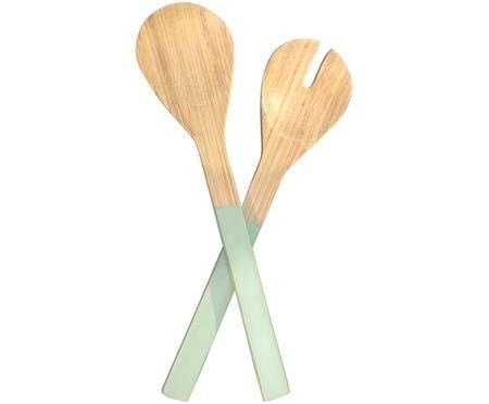 Komplet sztućców do sałatek Bambus, 2 elem.