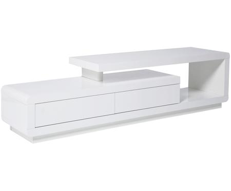 TV stolek v bílé barvě Loft