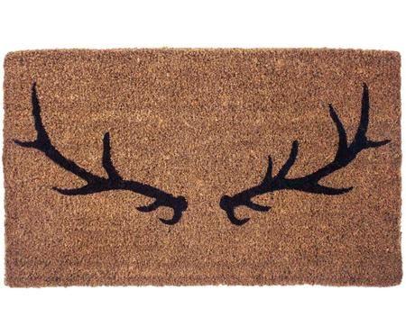 Ręcznie tkana wycieraczka Antlers
