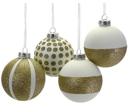 Weihnachtskugel-Set Dots & Stripes, 4-tlg.