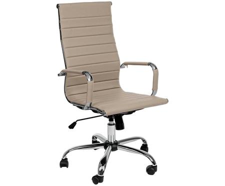 Sedia girevole da ufficio in pelle sintetica Praga, regolabile in altezza
