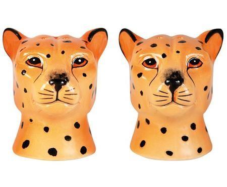 Komplet solniczki i pieprzniczki Leopard, 2 elem.
