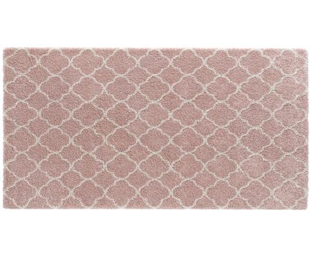 Flauschiger Hochflor-Teppich Grace in Rosa-Creme