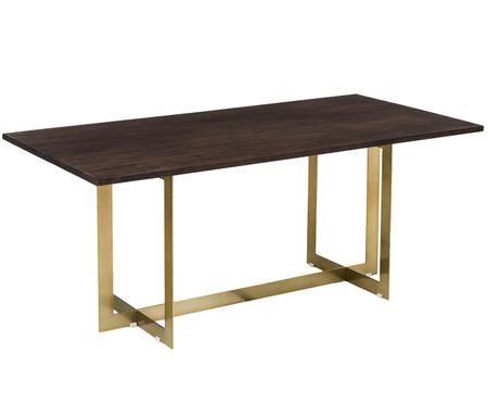 Tavolo da pranzo Leila con piano in legno massello
