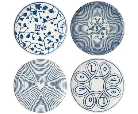 Set de platos postre Love, 4pzas.