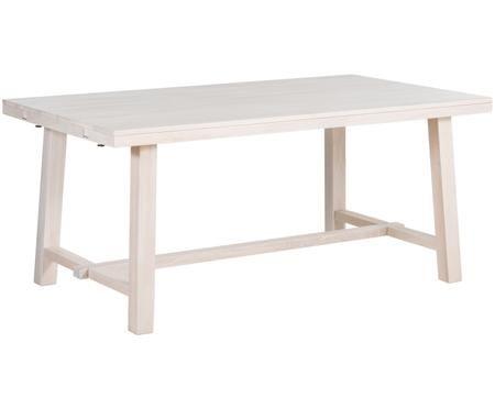 Tavolo da pranzo allungabile in legno massiccio Brooklyn in legno di quercia