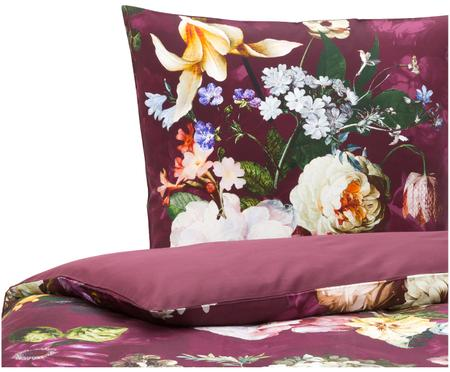 Baumwollsatin-Wendebettwäsche Fleur mit Blumenmuster