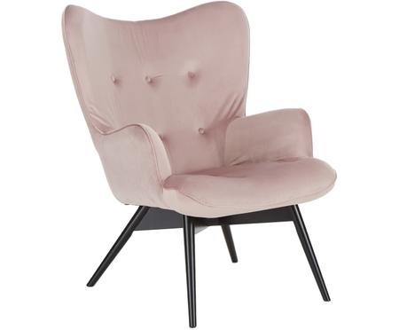 Fluwelen fauteuil Vicky