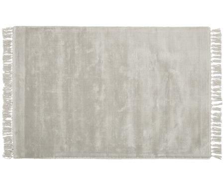 Ručně tkaný viskózový koberec střásněmi všedé barvě Aria