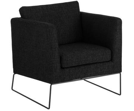 Klassischer Sessel Milo in Schwarz