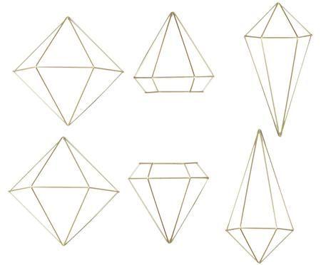Komplet dekoracji ściennych Prisma, 6 elem.