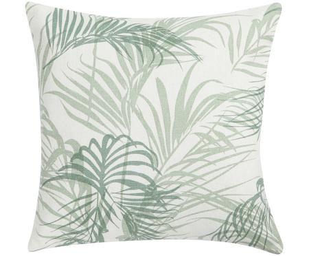 Kissen Alana mit Palmenblättern, mit Inlett