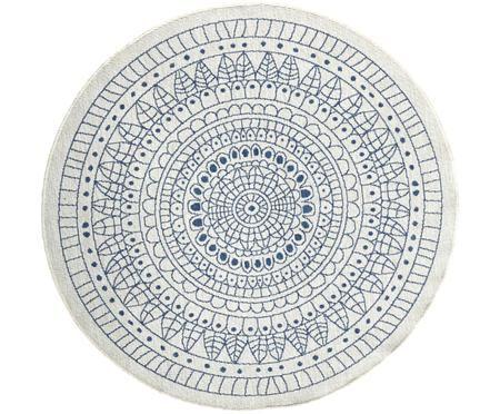Rond omkeerbaar tapijt voor binnen en buiten met patroon
