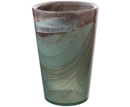 Vase Klava aus recyceltem Glas
