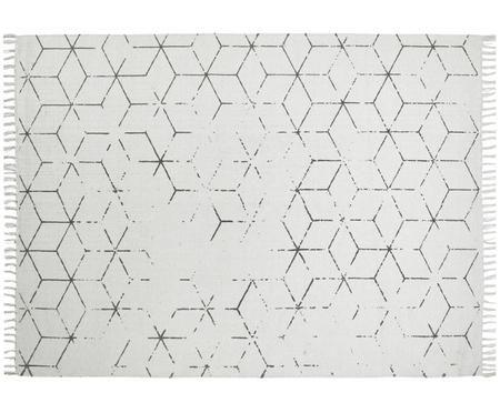 Handgewebter Baumwollteppich Stockholm mit Muster