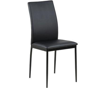 Krzesło ze sztucznej skóry Demina