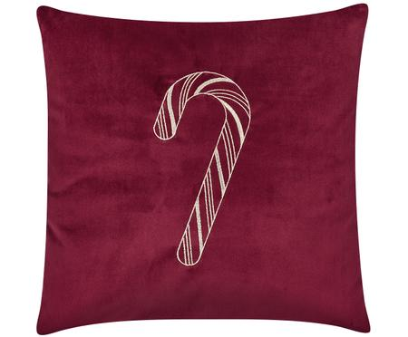 Federa natalizia in velluto ricamata Candy