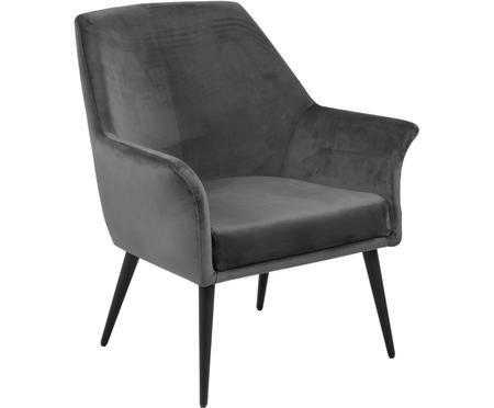 Large chaise en veloursDahlia