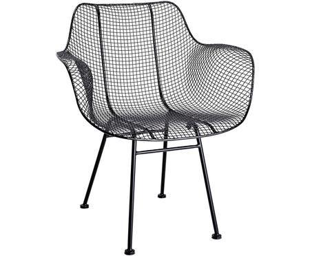 Schwarzer Metall-Stuhl Tide
