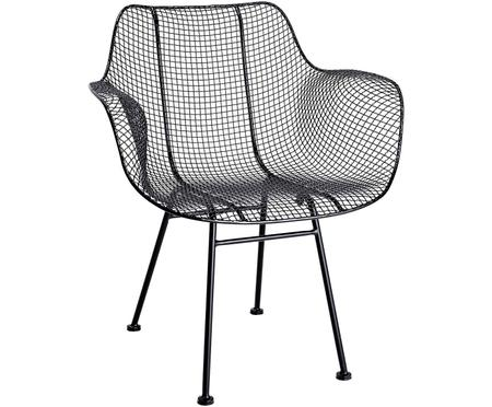 Czarne krzesło z metalu Tide